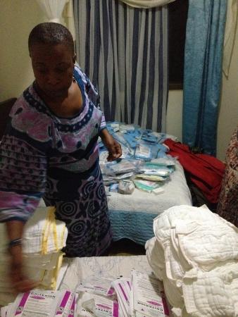 Unpacking donations in Uganda